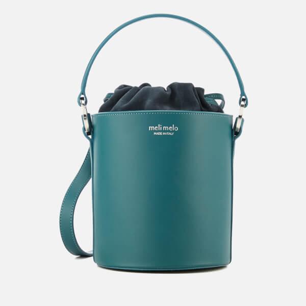 meli melo Women's Santina Mini Bucket Bag - Marble Green