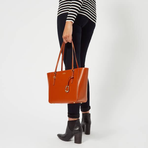 Lauren Ralph Lauren Women s Bennington Medium Shopper Bag - Burnt Orange   Image 3 383717b50a
