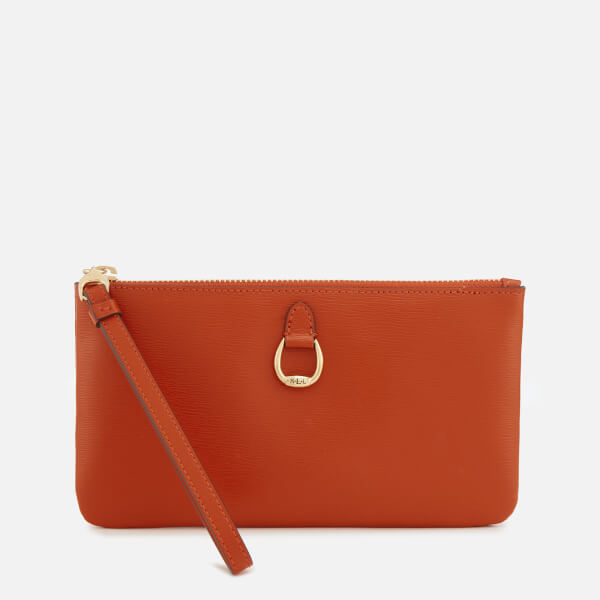 Lauren Ralph Lauren Women's Bennington Medium Wristlet - Burnt Orange