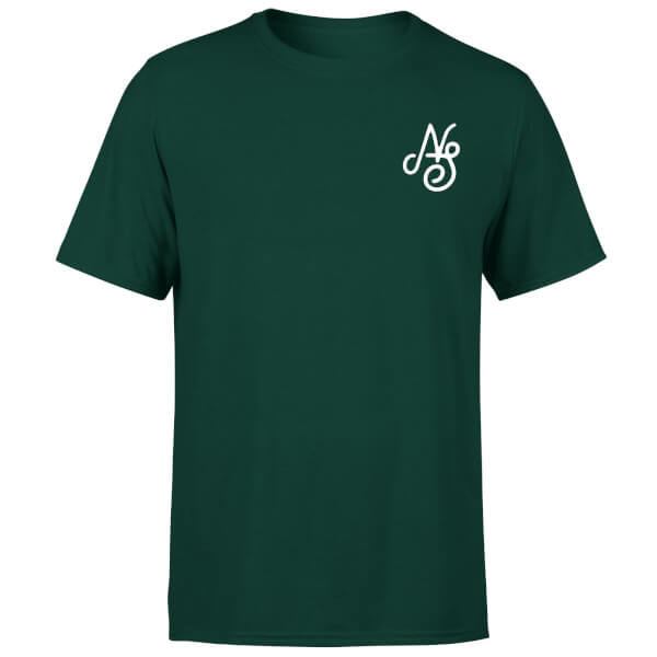 Native Shore Men's Essential Script T-Shirt - Forest Green