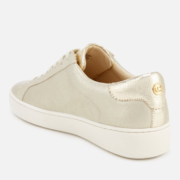 1184332cacd MICHAEL MICHAEL KORS Women s Irving Brushed Metallic Lace Up Trainers -  Champagne  Image 2