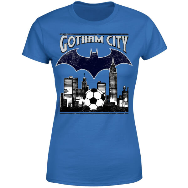 DC Comics Batman Football Gotham City Women's T-Shirt - Royal Blue