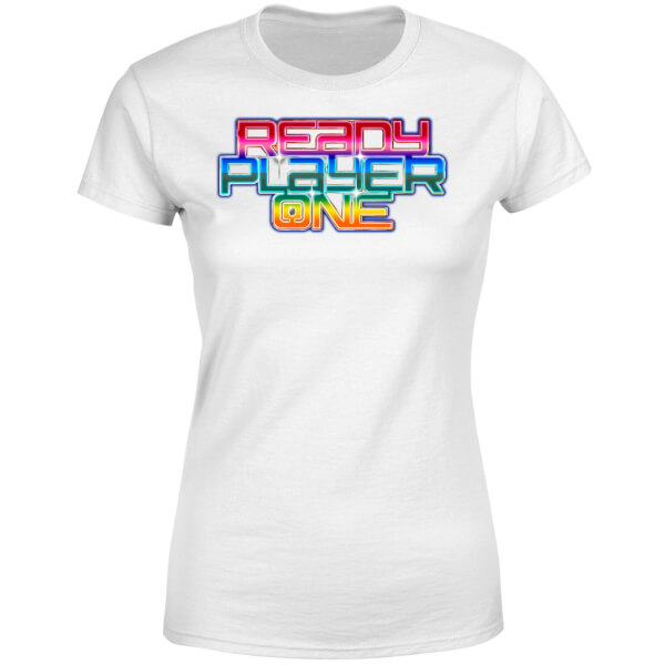 Ready Player One Rainbow Logo Women's T-Shirt - White