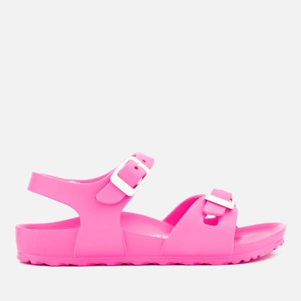 Birkenstock Kids' Rio EVA Double Strap Sandals - Neon Pink