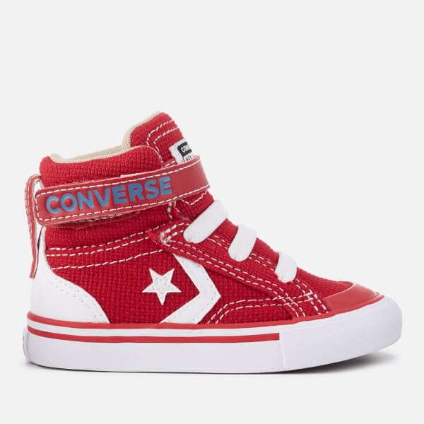 5d4198dd3326 Converse Toddlers  Pro Blaze Strap Hi-Top Trainers - Gym Red Vintage Khaki White