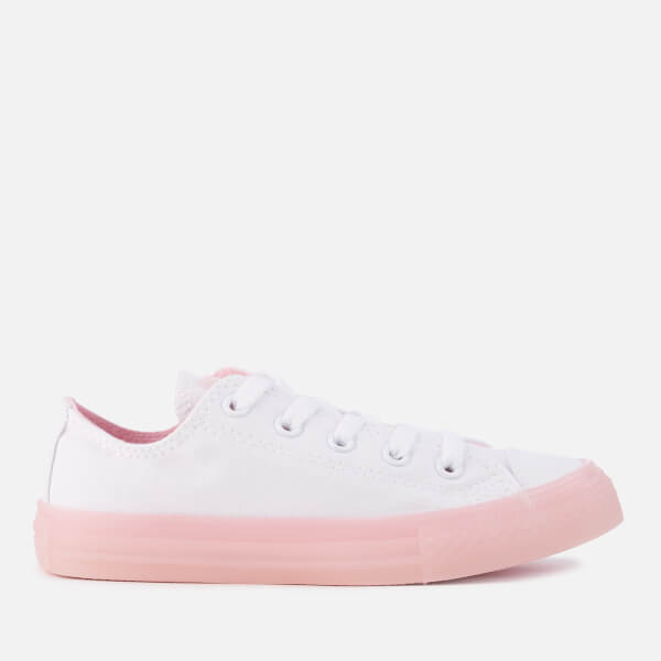 6d6157b6bc8c Converse Kids  Chuck Taylor All Star Ox Trainers - White Cherry Blossom   Image