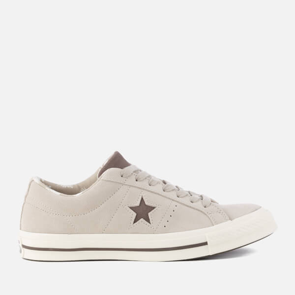 cdf2990c361a Converse Men s One Star Ox Trainers - Papyrus Dark Chocolate Egret  Image 1