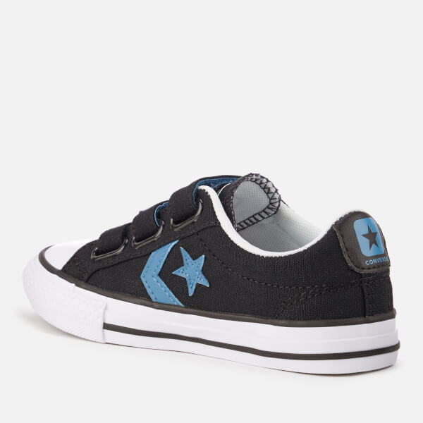 ConverseSTAR PLAYER JUNIOR - Trainers - black/aegean storm/white