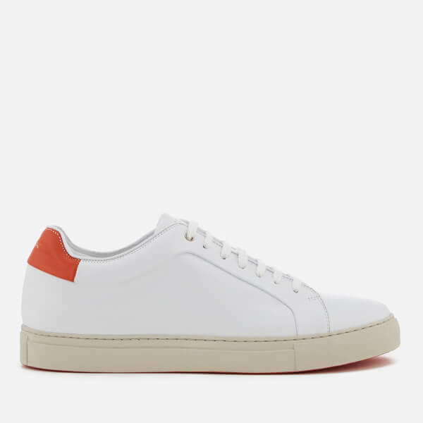 Paul Smith Men's Basso Leather Cupsole Trainers - /Red Tab - UK 10