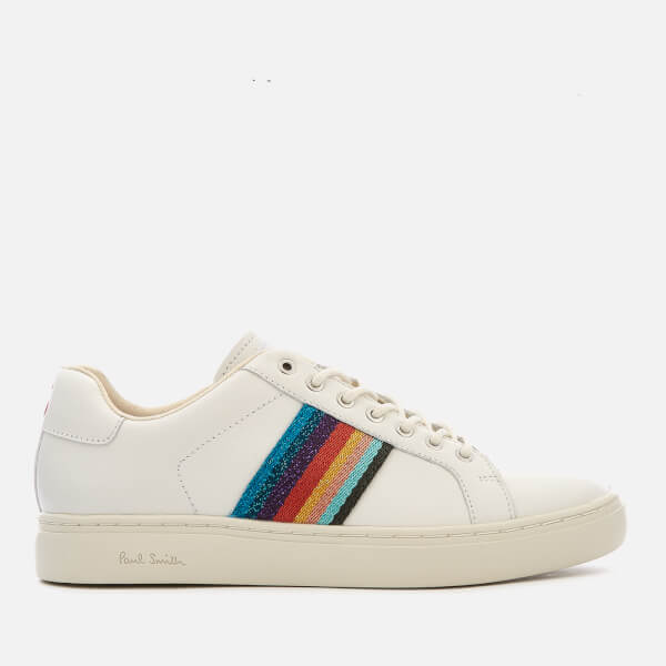 c5f911949739 Paul Smith Women's Lapin Artist Stripe Cupsole Trainers - White: Image 1