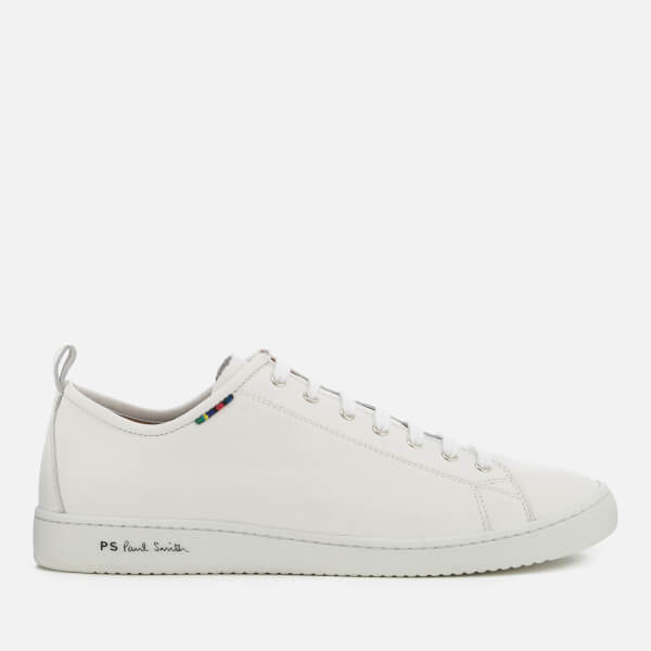 PS by Paul Smith Men's Miyata Leather Low Profile Trainers - White