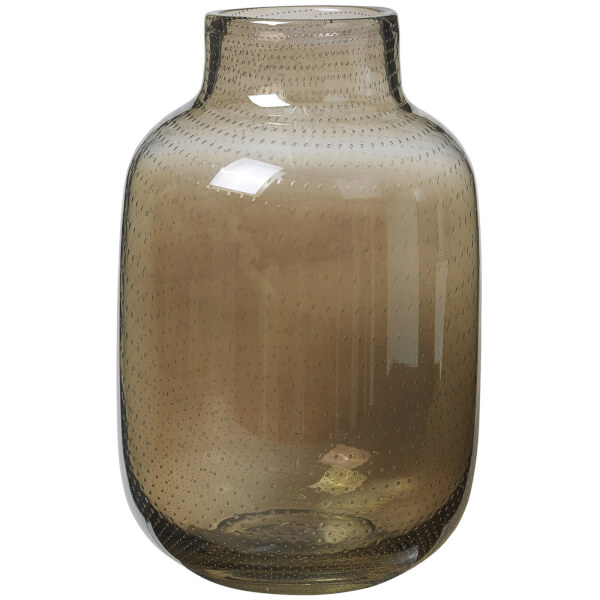 Broste Copenhagen Gefin Mouthblown Glass Vase Brown Free Uk