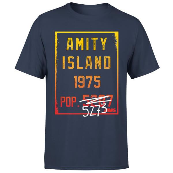 Jaws Amity Population T-Shirt - Navy