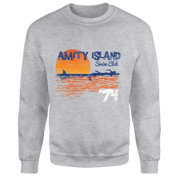 Jaws Amity Swim Club Sweatshirt - Grey