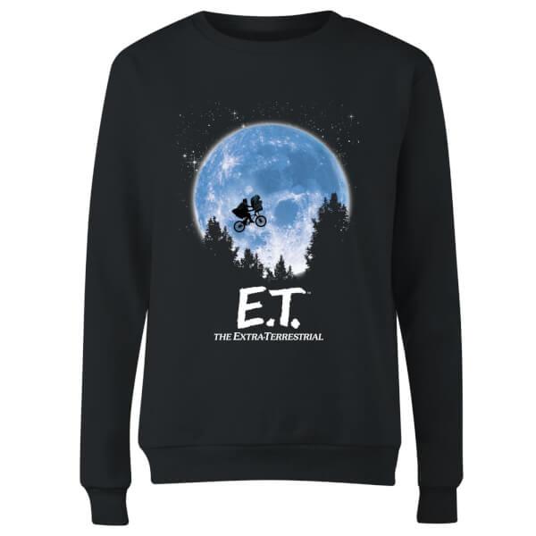ET Moon Silhouette Women's Sweatshirt - Black
