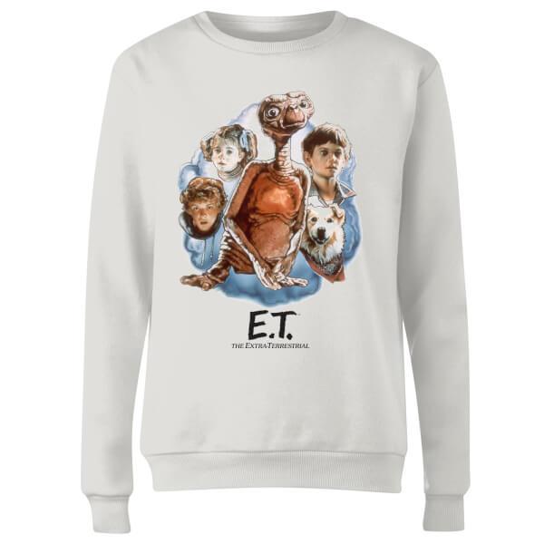 ET Painted Portrait Women's Sweatshirt - White