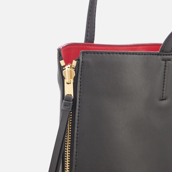 cf2a6f81c70cf DKNY Women's East West Reversible Tote Bag - Black/Red: Image 4