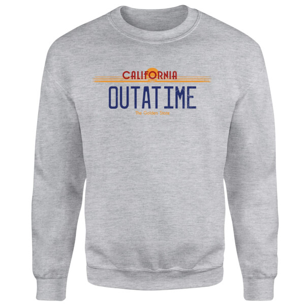 Back To The Future Outatime Plate Sweatshirt - Grey
