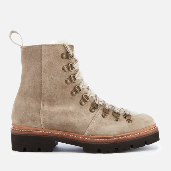 9a37c0b757ae Grenson Women s Nanette Suede Hiking Lace Up Boots - Maple