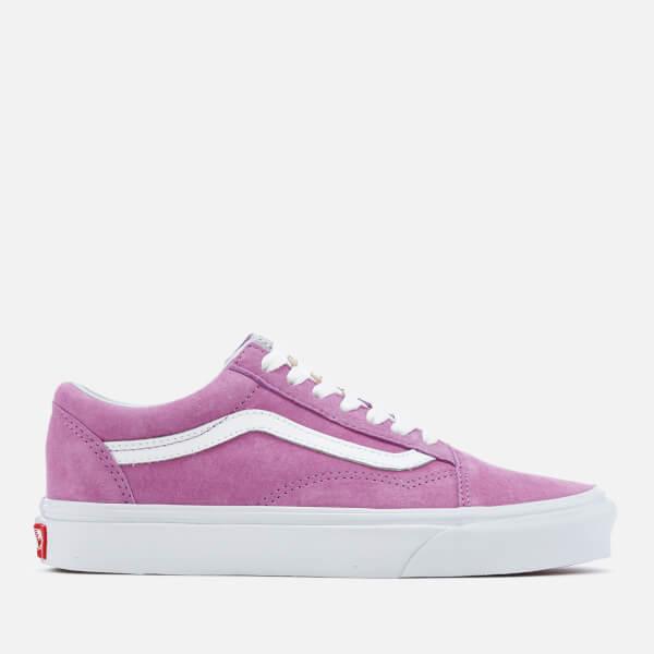 0c9cf39452 Vans Women s Old Skool Suede Trainers - Purple True White  Image 1