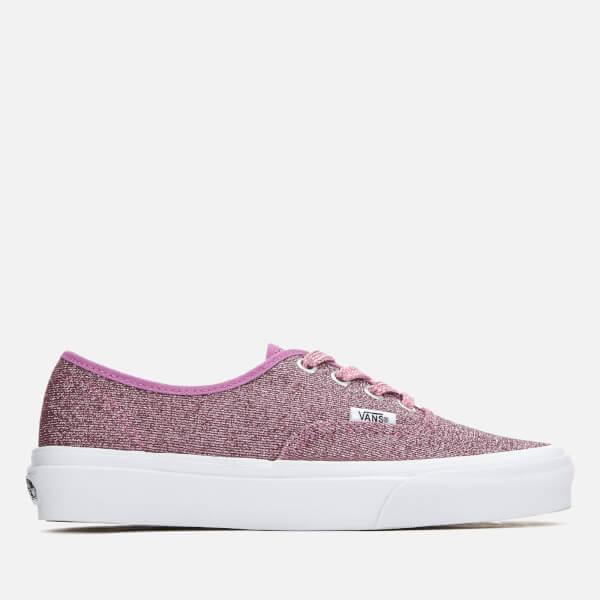 74a22d2b95 Vans Women s Authentic Lurex Glitter Trainers - Pink True White  Image 1