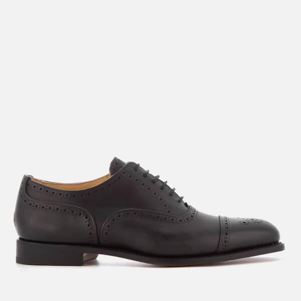 Tricker's Men's Stockton Museum Leather Toe Cap Oxford Shoes - Black