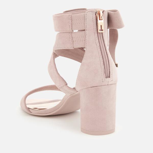 eba80a0a9 Ted Baker Women s Noxen 2 Suede Block Heeled Sandals - Mink Pink  Image 3