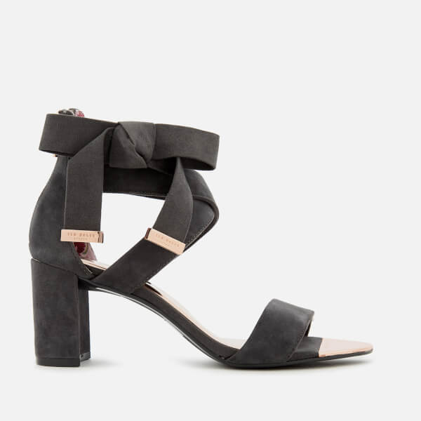 b424f2a85d2 Ted Baker Women s Noxen 2 Suede Block Heeled Sandals - Charcoal  Image 1