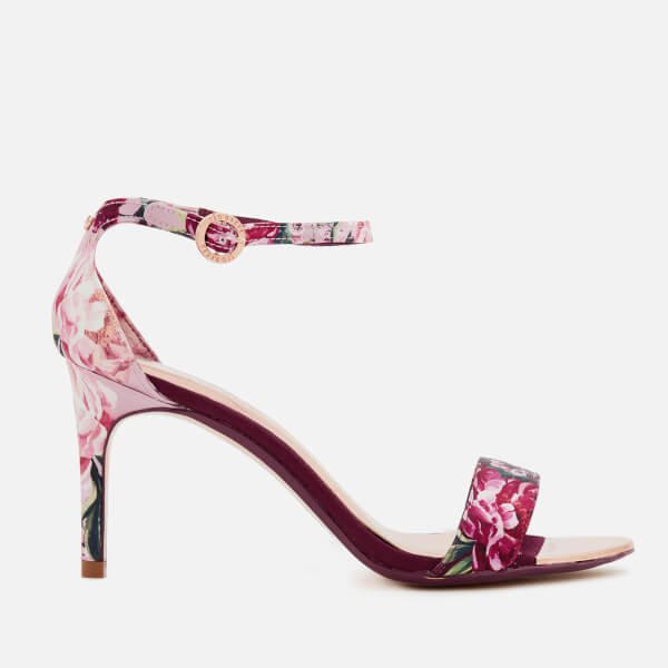 f44c1ffc55c Ted Baker Women s Mylli Barely There Heeled Sandals - Serenity  Satin Textile  Image 1