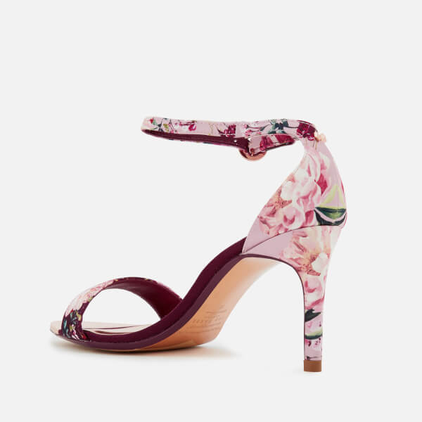 2e4f34a9a73 Ted Baker Women s Mylli Barely There Heeled Sandals - Serenity  Satin Textile  Image 3