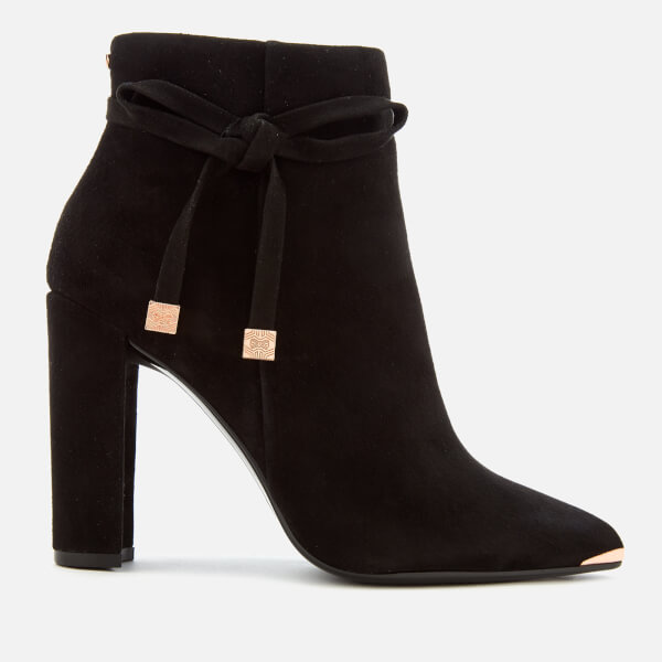 4a5b9dfe82a2 Ted Baker Women s Qatena Suede Heeled Ankle Boots - Black  Image 1