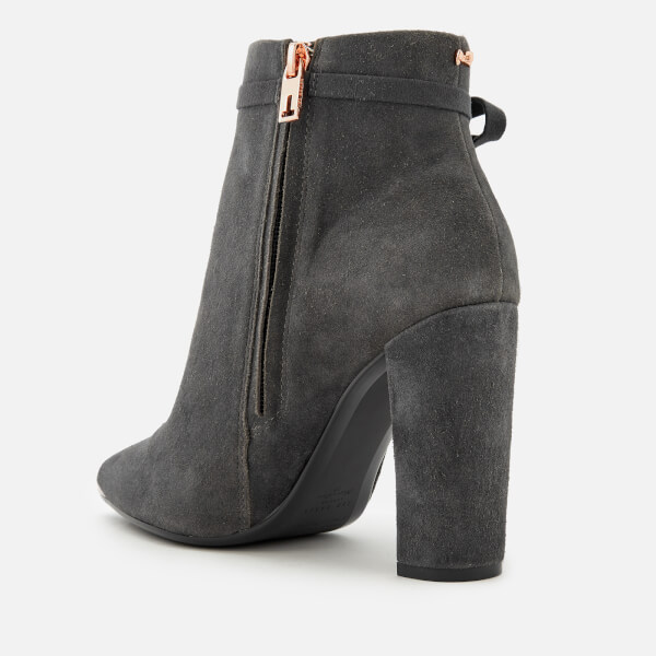 347d1a82e0a3da Ted Baker Women s Qatena Suede Heeled Ankle Boots - Charcoal  Image 3