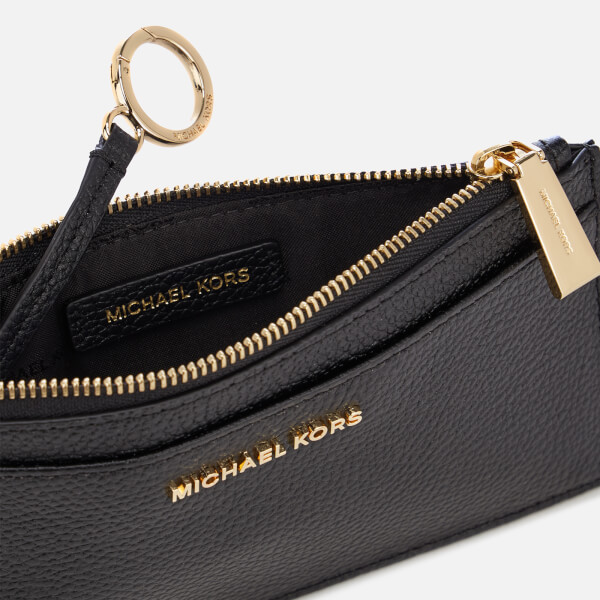 e266b633345d MICHAEL MICHAEL KORS Women's Mercer Pebble Large Slim Card Case - Black:  Image 4