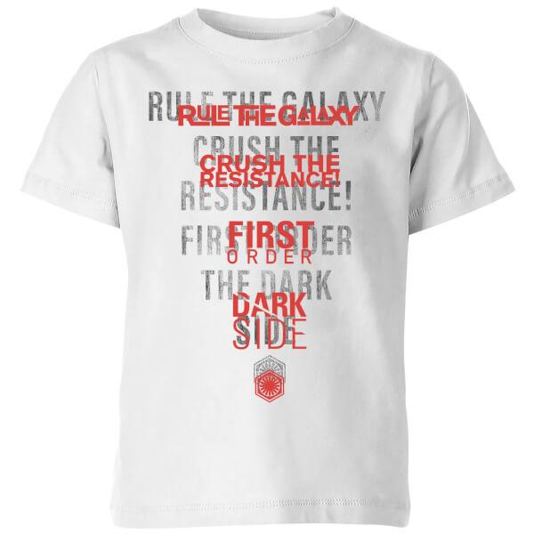 Star Wars Dark Side Echo White Kids' T-Shirt - White