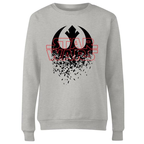 Star Wars Shattered Emblem Women's Sweatshirt - Grey