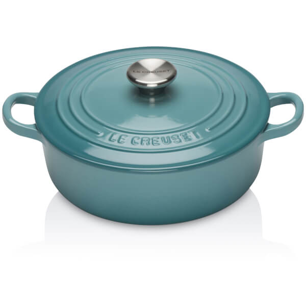 Le Creuset Signature Cast Iron Risotto Pot - 22cm - Teal Homeware | TheHut.com