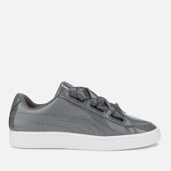 new arrival 810fa e6db8 Puma Women s Basket Heart Patent Trainers - Iron Gate  Image 1