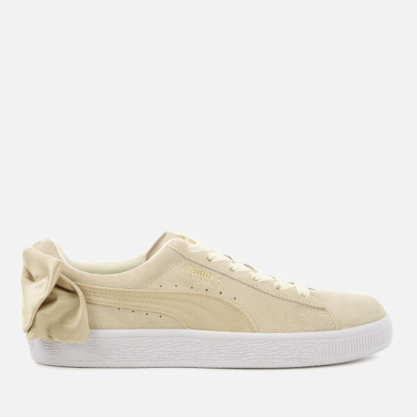 680fe7496d5f Puma Women s Suede Bow Varsity Trainers - Marshmallow Metallic Gold  Image 1
