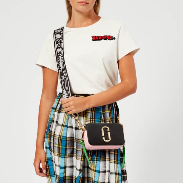 893bd425f0fd Marc Jacobs Women s Snapshot Cross Body Bag - Black Baby Pink  Image 3