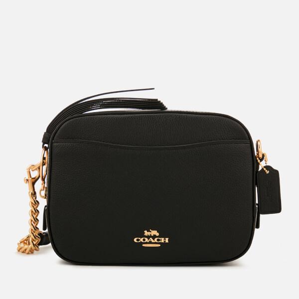 Coach Women s Polished Pebble Leather Camera Bag - Black  Image 1 53ad5e8548