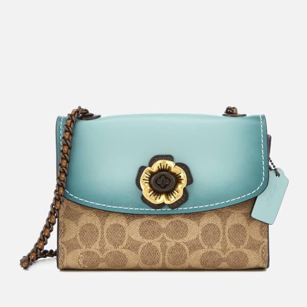 661a749e09 Coach Women s Colorblock Parker 18 Shoulder Bag - Light Turquoise  Image 1
