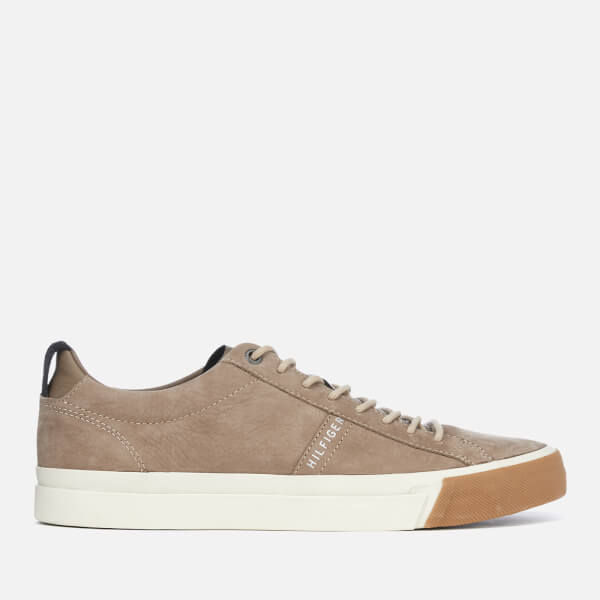 c8864bb58fb5f Tommy Hilfiger Men s Nubuck Derby Trainers - Taupe Grey  Image 1