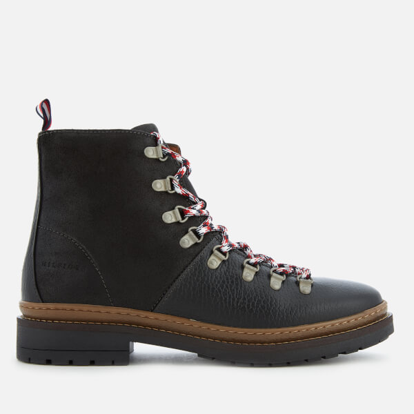 981a81a8ff087 Tommy Hilfiger Men s Elevated Outdoor Leather Hiking Boots - Black ...