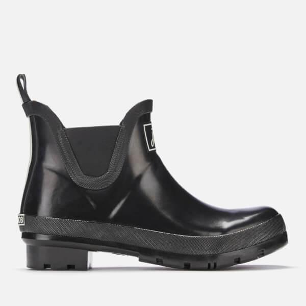Joules Women's Wellibob Gloss Chelsea Boot Wellies - Black