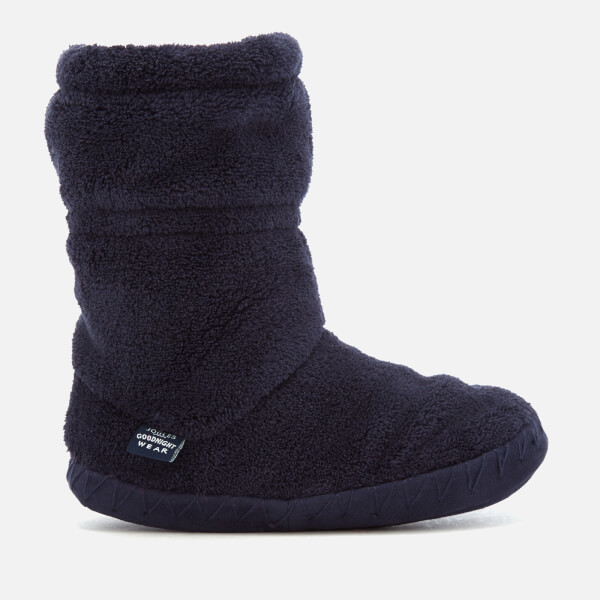 Joules Kids' Padabout Fleece Lined Slipper Socks - French Navy