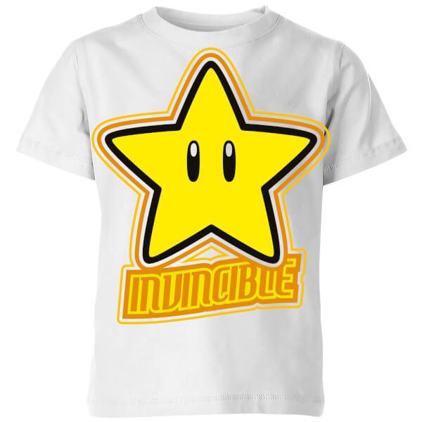 Nintendo Super Mario Invincible T-Shirt Kids' T-Shirt - White
