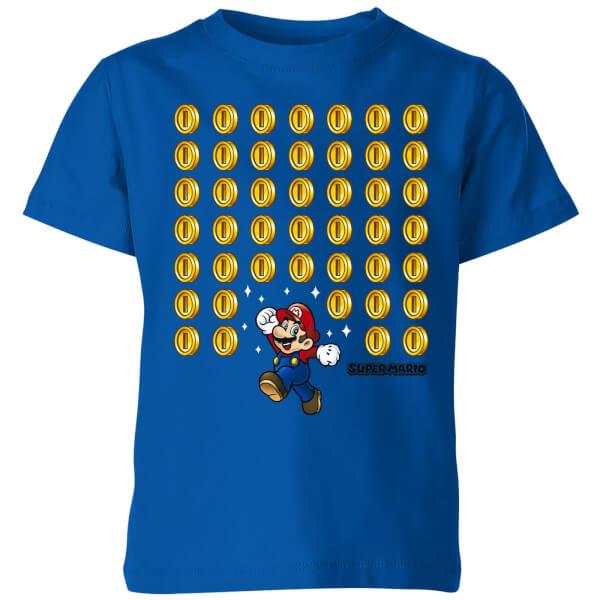 Nintendo Super Mario Coin Drop Kids' T-Shirt - Royal Blue