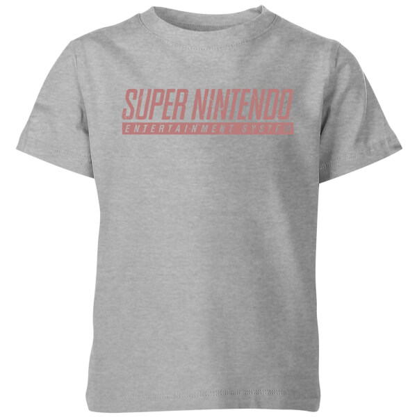 Nintendo SNES Men's Light Grey Kids' T-Shirt - Grey
