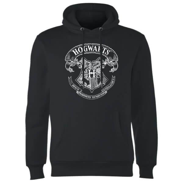 Harry Potter Hogwarts Crest Hoodie - Black