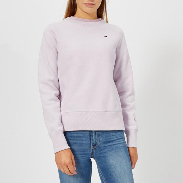Champion Women s Crew Neck Sweatshirt - Lilac Womens Clothing ... f920119ec5
